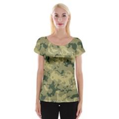 Greencamouflage Women s Cap Sleeve Top