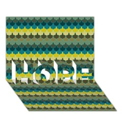 Scallop Pattern Repeat In  new York  Teal, Mustard, Grey And Moss Hope 3d Greeting Card (7x5)