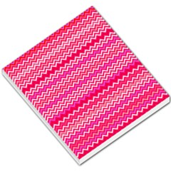 Valentine Pink And Red Wavy Chevron Zigzag Pattern Small Memo Pads by PaperandFrill