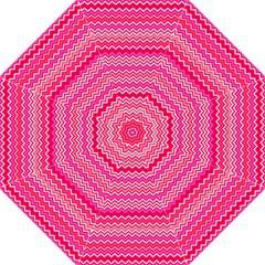 Valentine Pink And Red Wavy Chevron Zigzag Pattern Golf Umbrellas by PaperandFrill