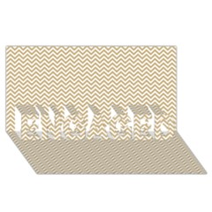 Gold And White Chevron Wavy Zigzag Stripes Engaged 3d Greeting Card (8x4)  by PaperandFrill