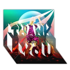 The Dreamer Thank You 3d Greeting Card (7x5)