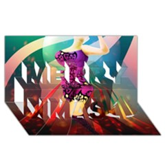 The Dreamer Merry Xmas 3d Greeting Card (8x4)