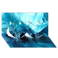 Marble Caves 3 Twin Hearts 3d Greeting Card (8x4)  by trendistuff