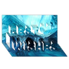 Marble Caves 3 Best Wish 3d Greeting Card (8x4)