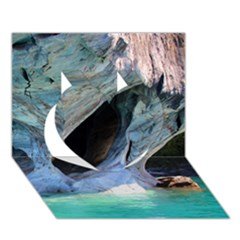 Marble Caves 2 Heart 3d Greeting Card (7x5)