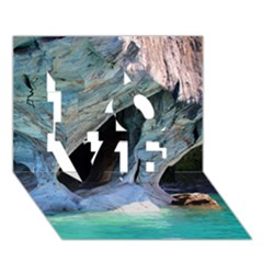 Marble Caves 2 Love 3d Greeting Card (7x5)