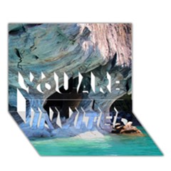 Marble Caves 2 You Are Invited 3d Greeting Card (7x5)  by trendistuff