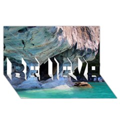 Marble Caves 2 Believe 3d Greeting Card (8x4)  by trendistuff