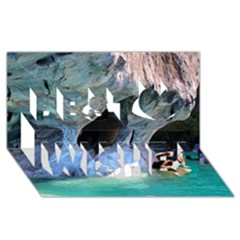 Marble Caves 2 Best Wish 3d Greeting Card (8x4)
