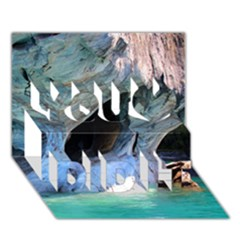 Marble Caves 2 You Did It 3d Greeting Card (7x5)