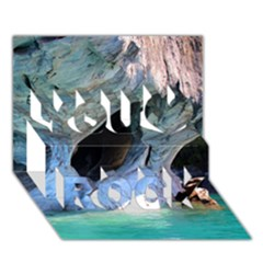 Marble Caves 2 You Rock 3d Greeting Card (7x5)  by trendistuff