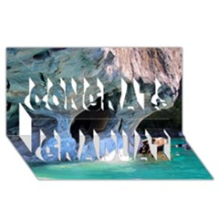 Marble Caves 2 Congrats Graduate 3d Greeting Card (8x4)  by trendistuff