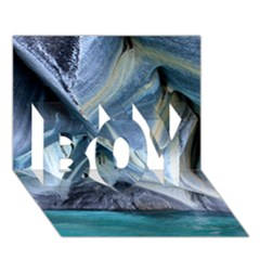 Marble Caves 1 Boy 3d Greeting Card (7x5) by trendistuff