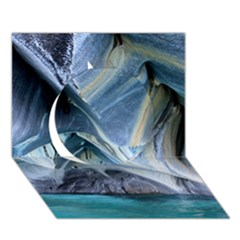 Marble Caves 1 Circle 3d Greeting Card (7x5)  by trendistuff