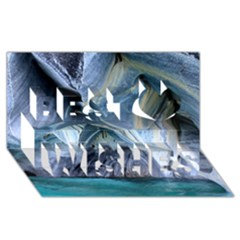 Marble Caves 1 Best Wish 3d Greeting Card (8x4)  by trendistuff