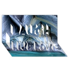 Marble Caves 1 Laugh Live Love 3d Greeting Card (8x4)
