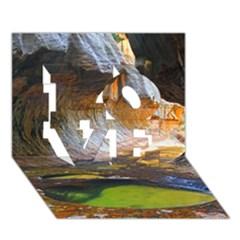 Left Fork Creek Love 3d Greeting Card (7x5)  by trendistuff