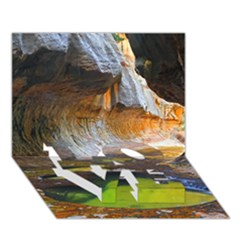 Left Fork Creek Love Bottom 3d Greeting Card (7x5)  by trendistuff