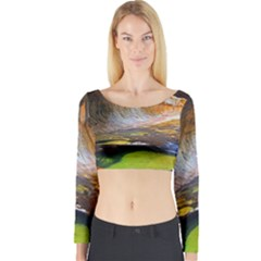 Left Fork Creek Long Sleeve Crop Top by trendistuff