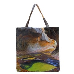 Left Fork Creek Grocery Tote Bags by trendistuff