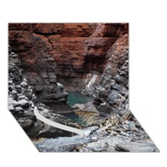Karijini Canyon Heart Bottom 3d Greeting Card (7x5)