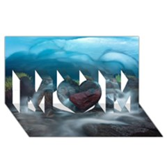 Iceland Cave Mom 3d Greeting Card (8x4)