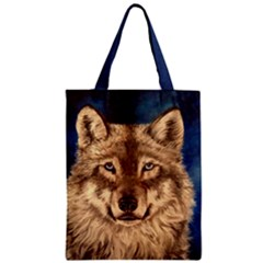 Wolf Classic Tote Bag by ArtByThree
