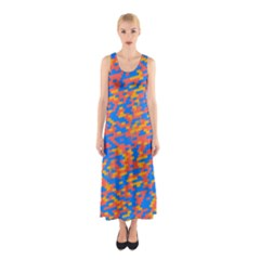 Pixels Full Print Maxi Dress