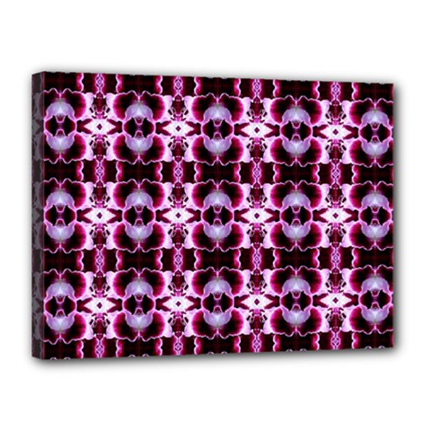 Purple White Flower Abstract Pattern Canvas 16  X 12  by Costasonlineshop