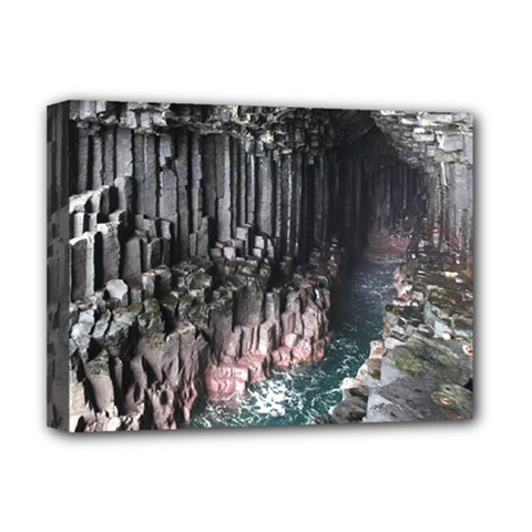 Fingals Cave Deluxe Canvas 16  X 12   by trendistuff