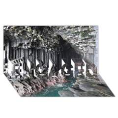 Fingals Cave Engaged 3d Greeting Card (8x4)