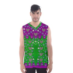 The Brightest Sparkling Stars Is Love Men s Basketball Tank Top by pepitasart