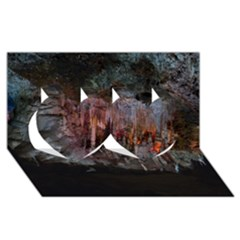 Caves Of Drach Twin Hearts 3d Greeting Card (8x4)