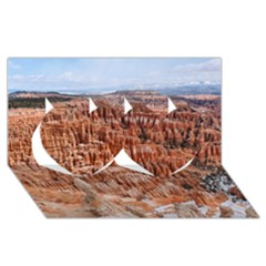 Bryce Canyon Amp Twin Hearts 3d Greeting Card (8x4)
