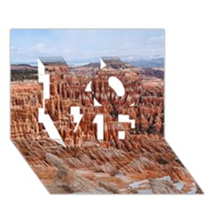 Bryce Canyon Amp Love 3d Greeting Card (7x5)