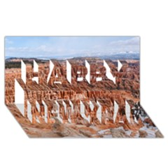 Bryce Canyon Amp Happy New Year 3d Greeting Card (8x4)