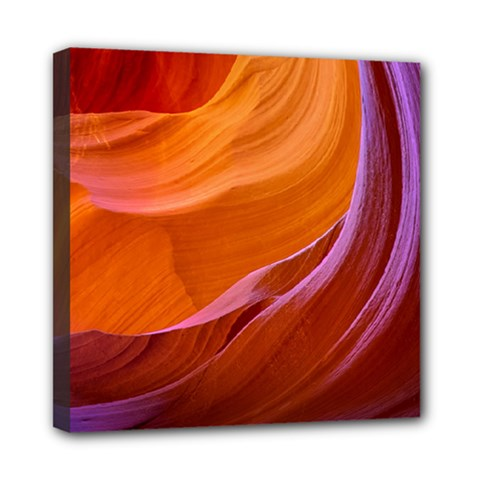 Antelope Canyon 2m Mini Canvas 8  X 8  by trendistuff