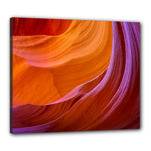 Antelope Canyon 2m Canvas 24  X 20  by trendistuff