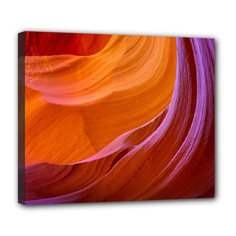 Antelope Canyon 2m Deluxe Canvas 24  X 20   by trendistuff