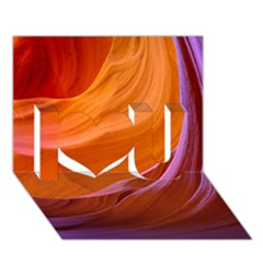 Antelope Canyon 2m I Love You 3d Greeting Card (7x5)  by trendistuff