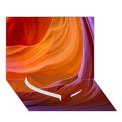 Antelope Canyon 2m Heart Bottom 3d Greeting Card (7x5)  by trendistuff