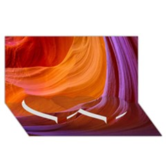 Antelope Canyon 2m Twin Heart Bottom 3d Greeting Card (8x4)