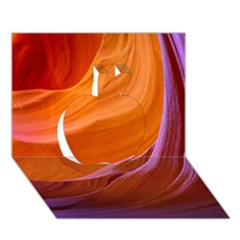 Antelope Canyon 2m Apple 3d Greeting Card (7x5)  by trendistuff
