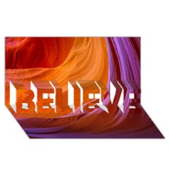 Antelope Canyon 2m Believe 3d Greeting Card (8x4)  by trendistuff