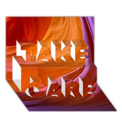 Antelope Canyon 2m Take Care 3d Greeting Card (7x5)  by trendistuff