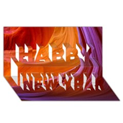 Antelope Canyon 2m Happy New Year 3d Greeting Card (8x4)  by trendistuff