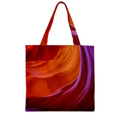 Antelope Canyon 2m Zipper Grocery Tote Bags by trendistuff