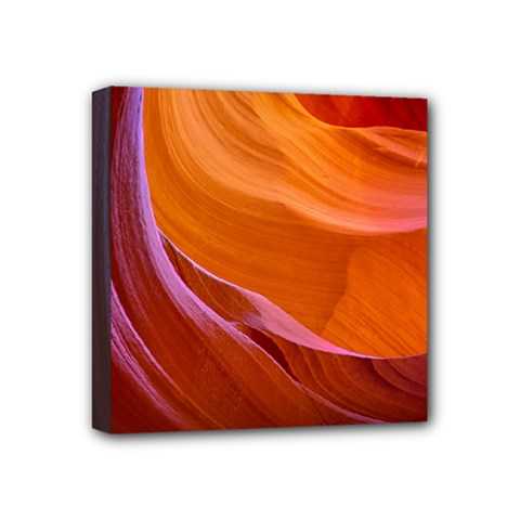 Antelope Canyon 2 Mini Canvas 4  X 4  by trendistuff