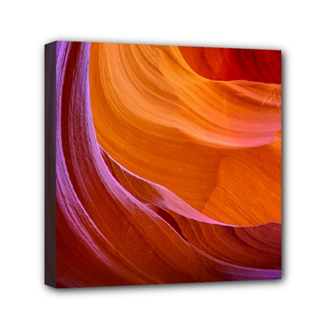 Antelope Canyon 2 Mini Canvas 6  X 6  by trendistuff